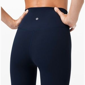 "navy lululemon leggings! (25"")"